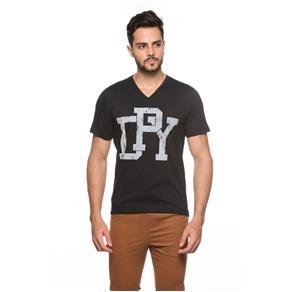 Camiseta Gola V Masculina - 546 - Preto - PP