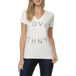 Camiseta Gola V Tommy Hilfiger Love