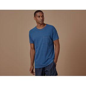 Camiseta Indigo com Bolso Azul - P