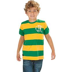Camiseta Infantil Braziline Flamengo Verde e Amarela 10