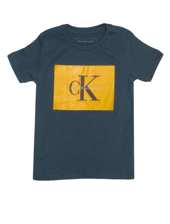 Tudo sobre 'Camiseta Infantil Calvin Klein Jeans Estampa Logo Marinho - 2'