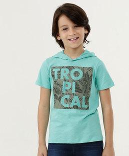 Camiseta Infantil Estampa Frontal Capuz MR