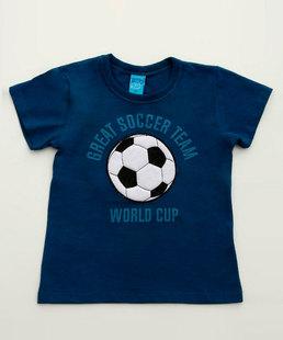 Camiseta Infantil Estampa Frontal Manga Curta