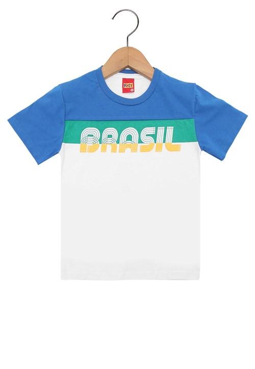 Camiseta Kyly Manga Curta Menino Branco