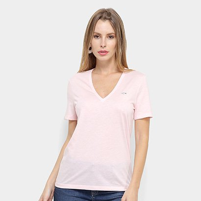 Camiseta Lacoste Gola V Feminina