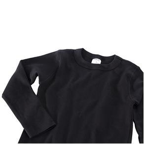 Camiseta M/L - Preta - Preto - 1T