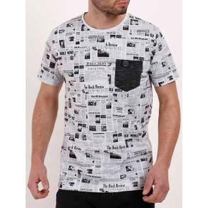 Camiseta Manga Curta Masculina Branco G