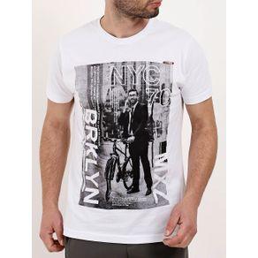 Camiseta Manga Curta Masculina Branco M