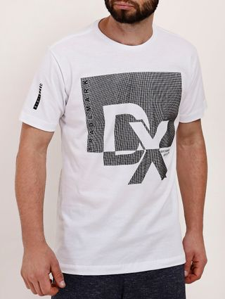 Camiseta Manga Curta Masculina Dixie Branco
