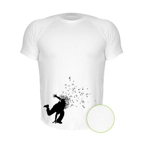 Camiseta Manga Curta Nerderia Dance Branco