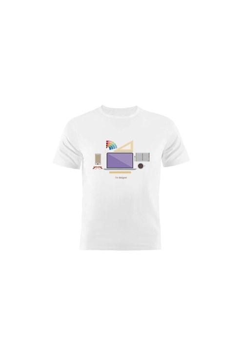 Camiseta Manga Curta Nerderia Designer Branco
