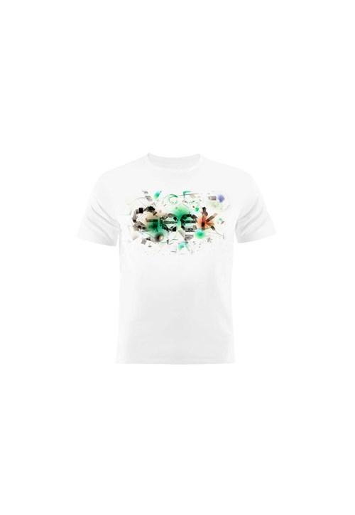 Camiseta Manga Curta Nerderia Geek Branco