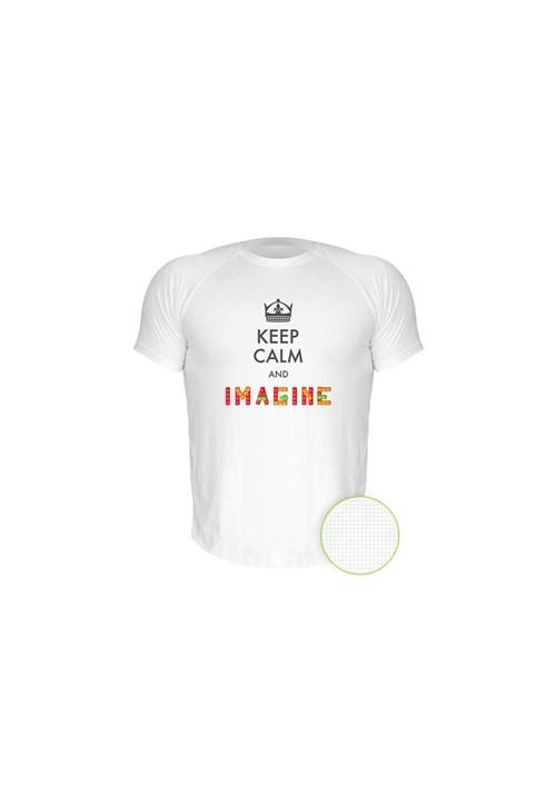 Camiseta Manga Curta Nerderia Imagine Branco