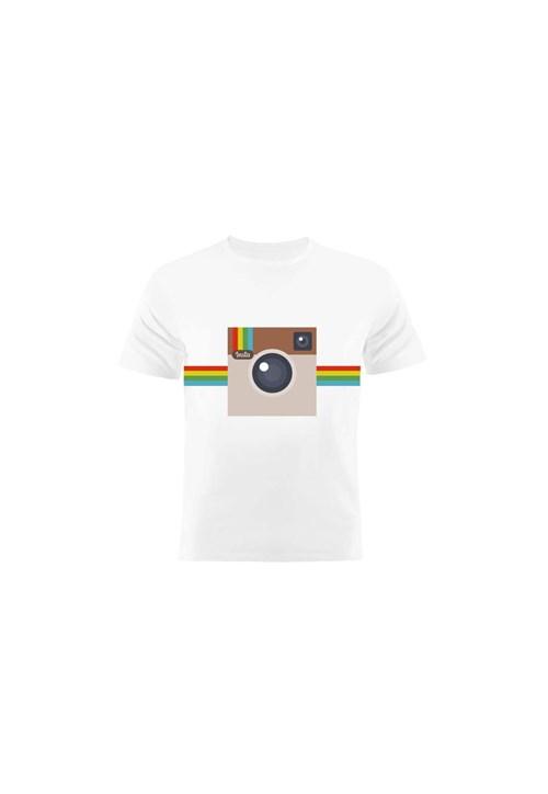 Camiseta Manga Curta Nerderia Instagram Branco