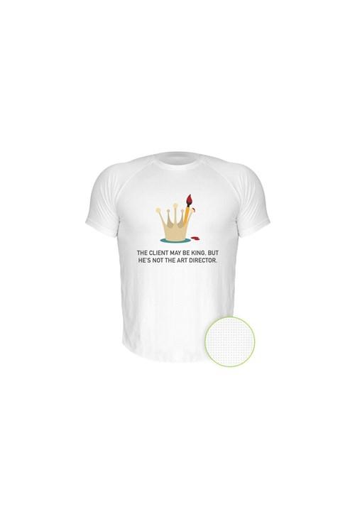 Camiseta Manga Curta Nerderia King Branco