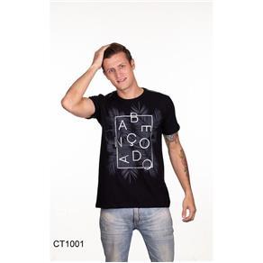 Camiseta Masculina Abençoado Pecado Zero - PRETO - M
