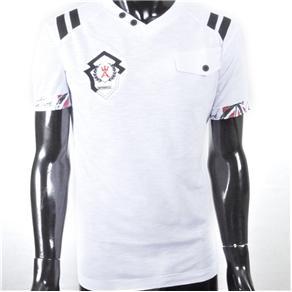 Camiseta Masculina com Bolso Antshok - P - Preto
