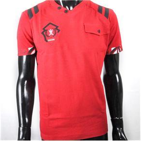 Camiseta Masculina com Bolso Antshok - P - Vermelho