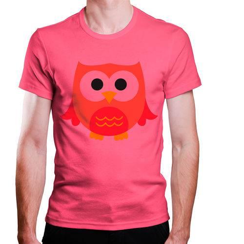 Tudo sobre 'Camiseta Masculina Coruja Infantil Laranja Rosa'