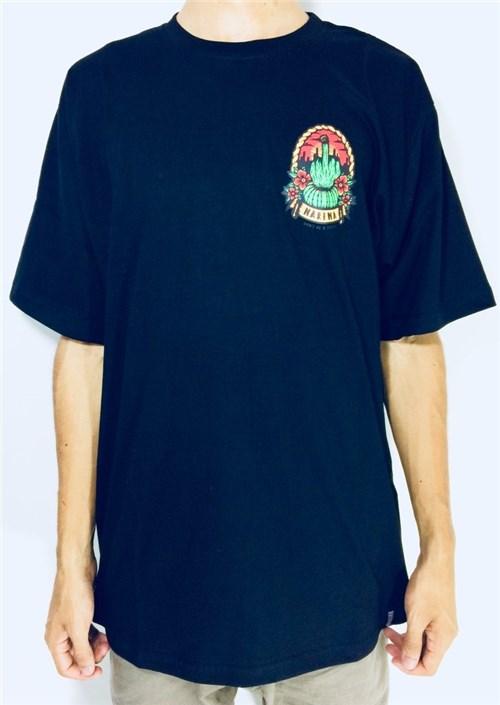 Camiseta Masculina de Skate Narina (G, Preto)