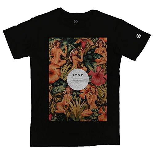 Camiseta Masculina Flowery Women Preto P