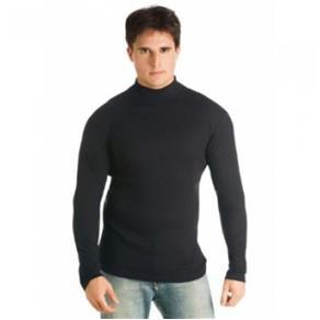 Camiseta Masculina Gola Alta - PRETO - P