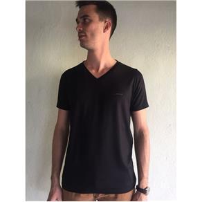 Camiseta Masculina Gola Redonda - 301 - PRETO - M