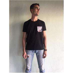 Camiseta Masculina Gola Redonda - 442 - PRETO - M