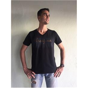 Camiseta Masculina Gola V - 451 - PRETO - P