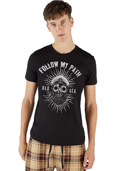 Camiseta Masculina Joss Old Sea Preto