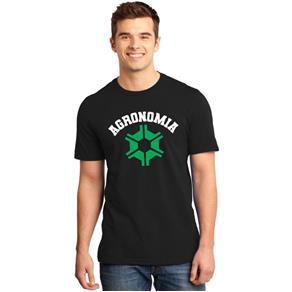 Camiseta Masculina Universitária Faculdade Agronomia - PRETO - P