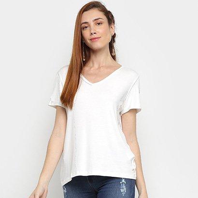 Camiseta Mob Gola V Feminina
