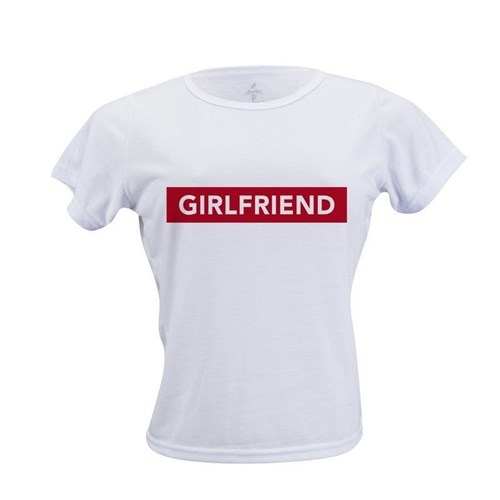 Camiseta Poliéster Branca Personalizada (Branco, P)