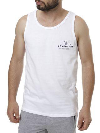 Camiseta Regata Masculina Branco
