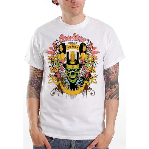 Camiseta Roma Manga Curta Glanblers Branco