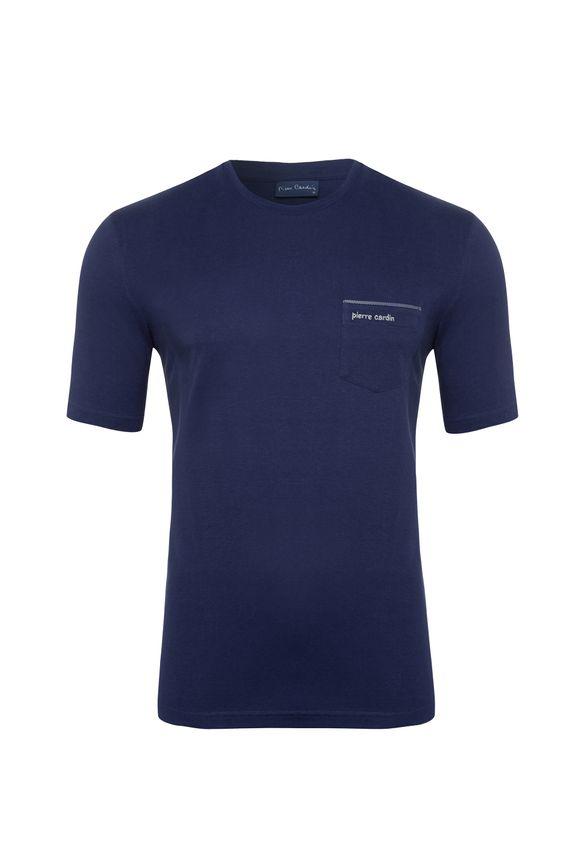 Camiseta Royal Escuro com Bolso P