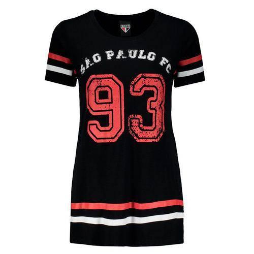 Tudo sobre 'Camiseta Sao Paulo Alongada Feminina Preta - Spr - Spr'