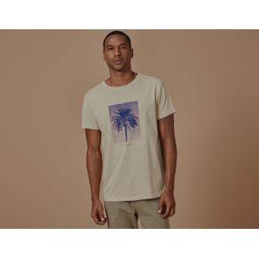 T-Shirt Single Palm Bege - P