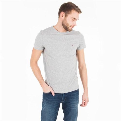 Camiseta Tommy Hilfiger Básica Cinza (P)