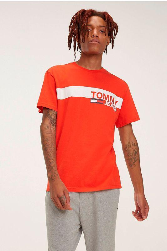 Camiseta Tommy Hilfiger Box Vermelho Tam. GG