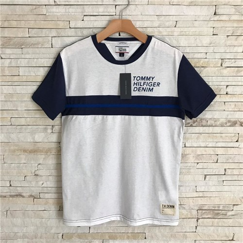 Camiseta Tommy Hilfiger Denim (Branco, P)