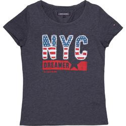 Camiseta Tommy Hilfiger Estampa Bordada