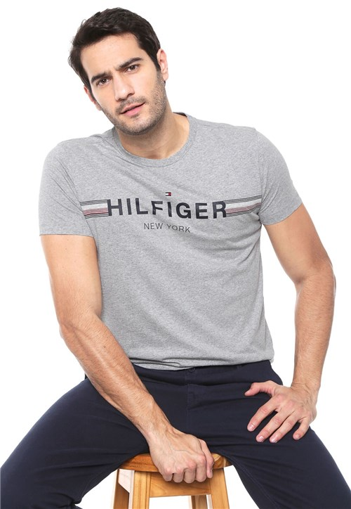 Camiseta Tommy Hilfiger New York Cinza