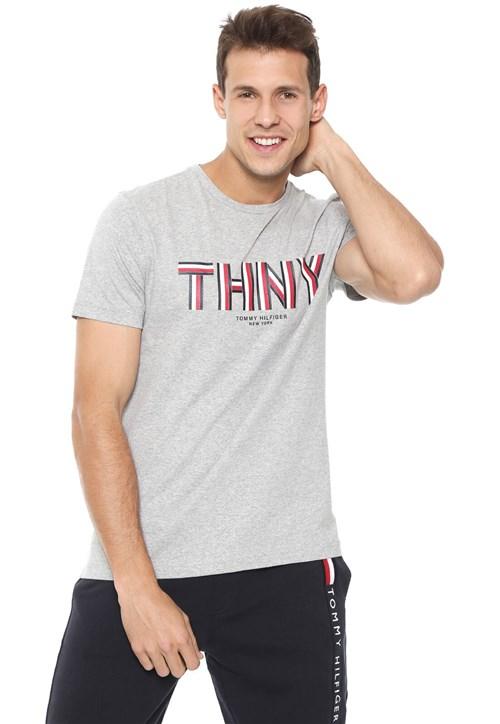 Camiseta Tommy Hilfiger Thny Cinza