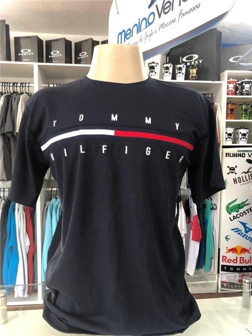 Camiseta Tommy Hilfiger Tradicional Azul Marinho (GG)