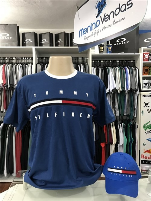 Camiseta Tommy Hilfiger Tradicional Azul Petróleo (G)