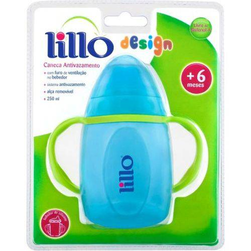 Tudo sobre 'Caneca Antivazamento Lillo Design Azul 250ml - (602911)'