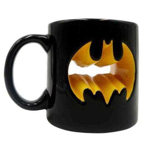 Tudo sobre 'Caneca de Porcelana 3d Dc Comics Batman Logotipo 320ml'