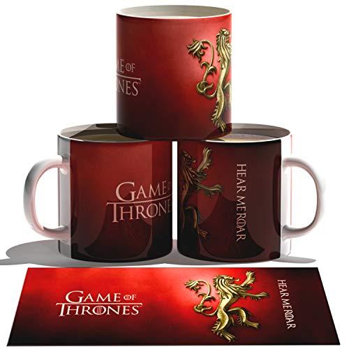 Caneca em Porcelana 325ml Game Of Thrones Lannister