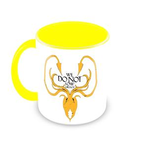 Caneca Game Of Thrones - Casa Greyjoy - Amarelo